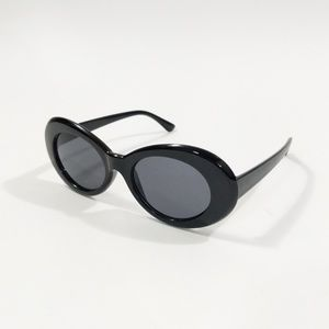 Accessories - Retro Kurt Cobain Black Round Sunglasses